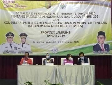 Gubernur Lampung: Dana Desa 2021 untuk Pencapaian SDGs